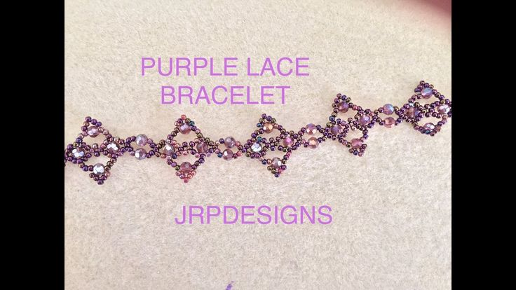 Purple Lace Bracelet