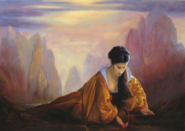 Australian Symbolist artist Kim Nelson Paintings