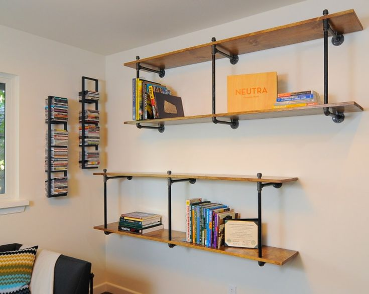 Industrial shelves for studio. desire to inspire - desiretoinspire.net - Kerrie Kelly