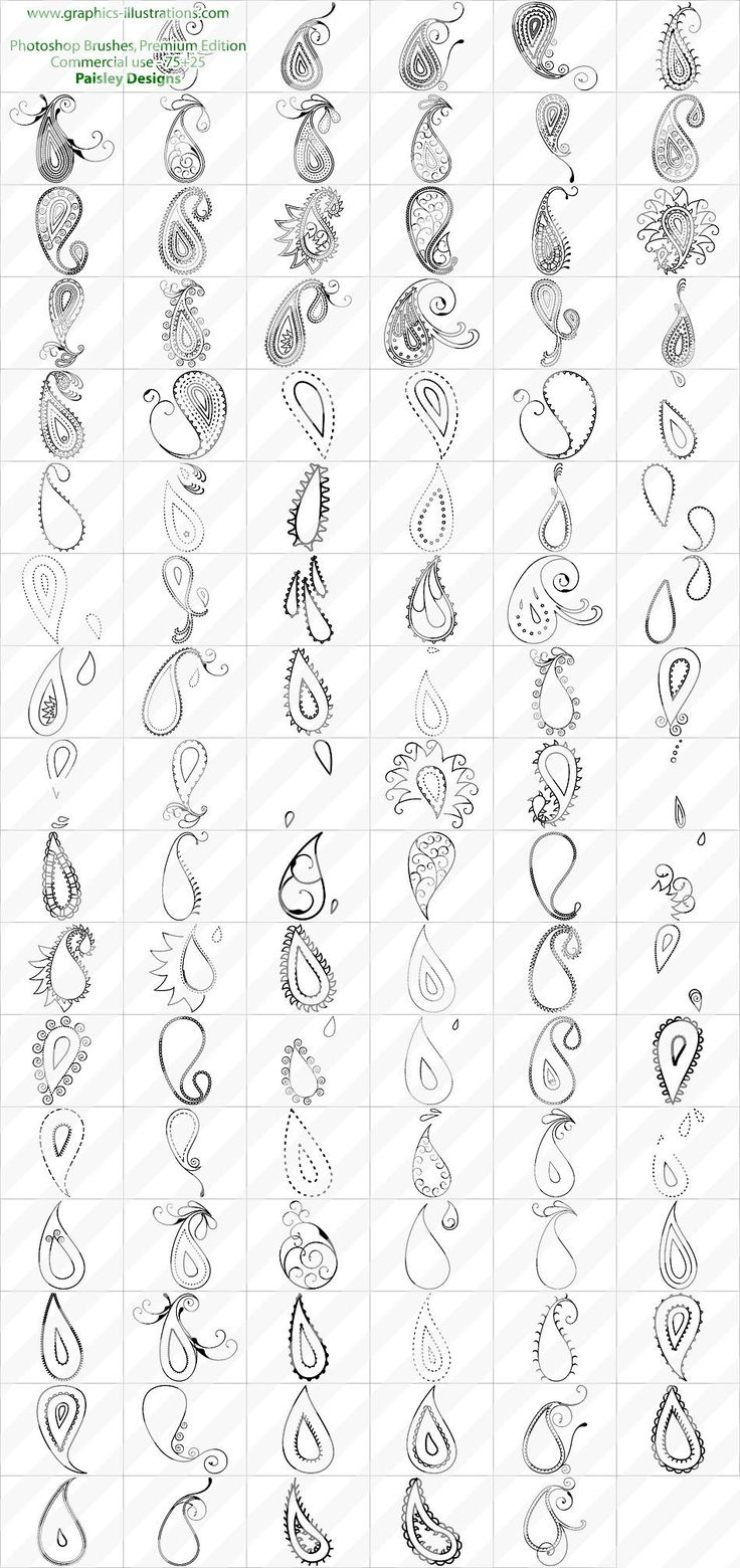 Paisley Designs Photoshop brushes set | Digital Art, Photoshop Brushes, Graphics And Daily Rumblings