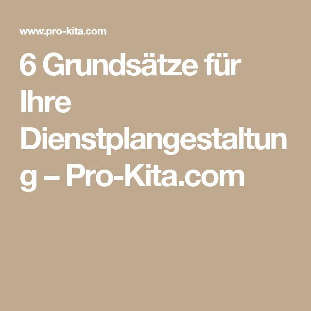 6 Grundsätze für Ihre Dienstplangestaltung – Pro-Kita.com