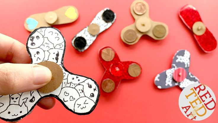 Easy Fidget Spinner WITHOUT Bearings TEMPLATE - How to make a Tri Fidget...