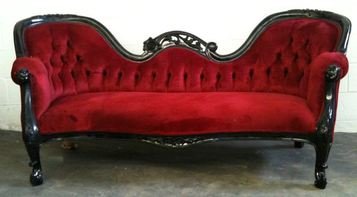 63 best red white and black french style bedroom images for Black chaise lounge sofa