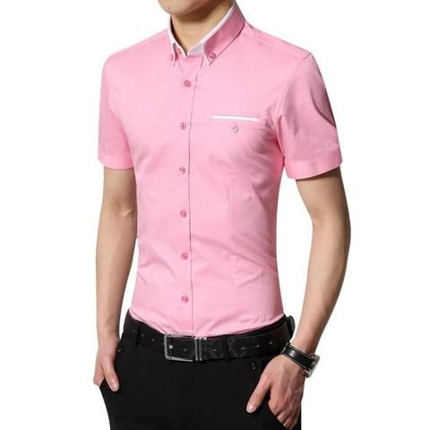 972d8c670c77 Laamei 2018 New Arrival Brand Mens Summer Business Shirt Short Sleeves Turn-down  Collar Tuxedo Shirt Male Shirts Plus Size 4XL