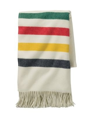 Pendelton Blankets - 5th Avenue Glacier Park Throw: Made in the USA from 100% merino wool.  Quality that will last a lifetime , and then some...