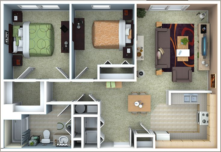 Best 25 apartment floor plans ideas on pinterest - Cheap 3 bedroom apartments in fort worth tx ...