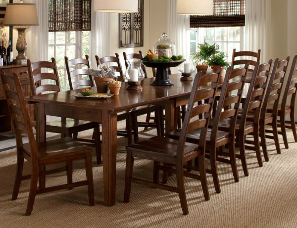 Toluca Large Dining Set 13 Pc Includes Extending Table And 12 Chairs