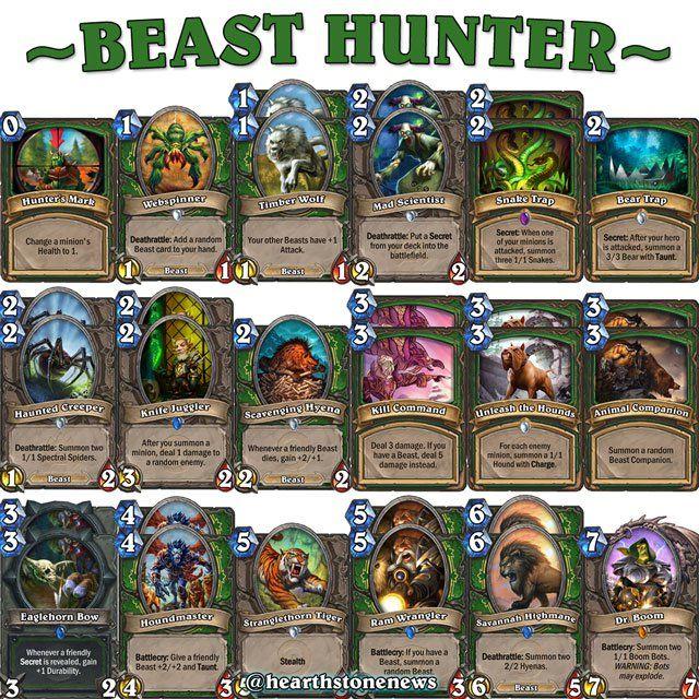 hearthstone deck hunter beast