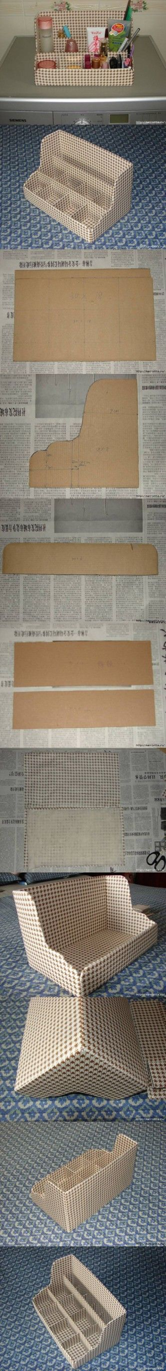 DIY Cardboard Shelves Organizer DIY Projects
