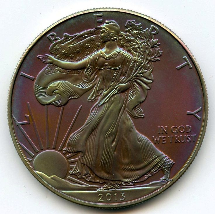 Item specifics     Year:   2013       2013 American Eagle Fine Silver Dollar – Artificial Toning Toned – 1 oz – AL457  Price : $35.00  Ends on : 3 days Order Now