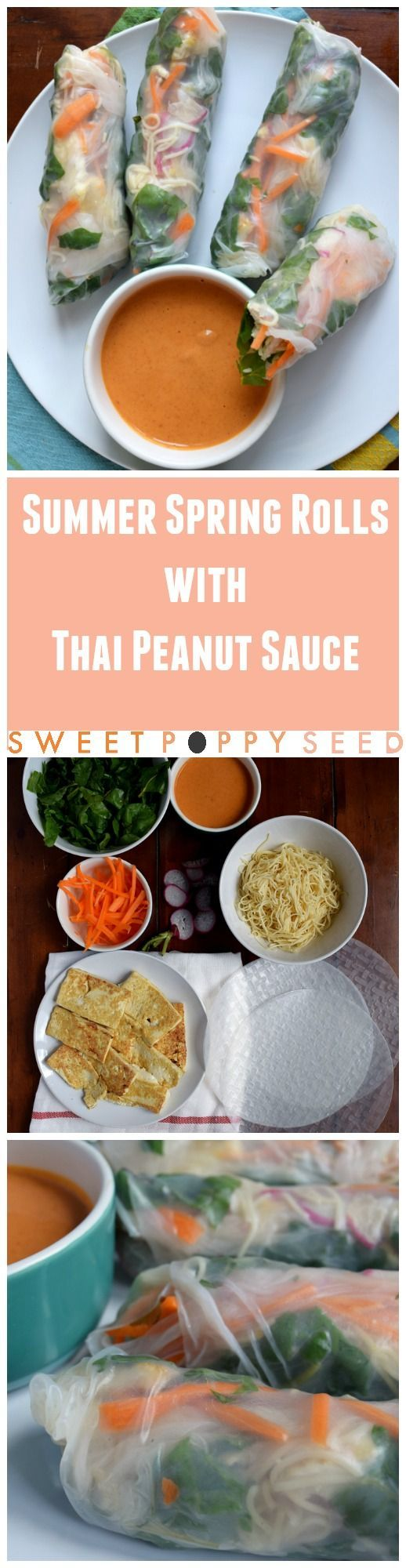 My favorite simple way to eat veggies in the summer with the BEST Thai peanut dipping sauce ever!