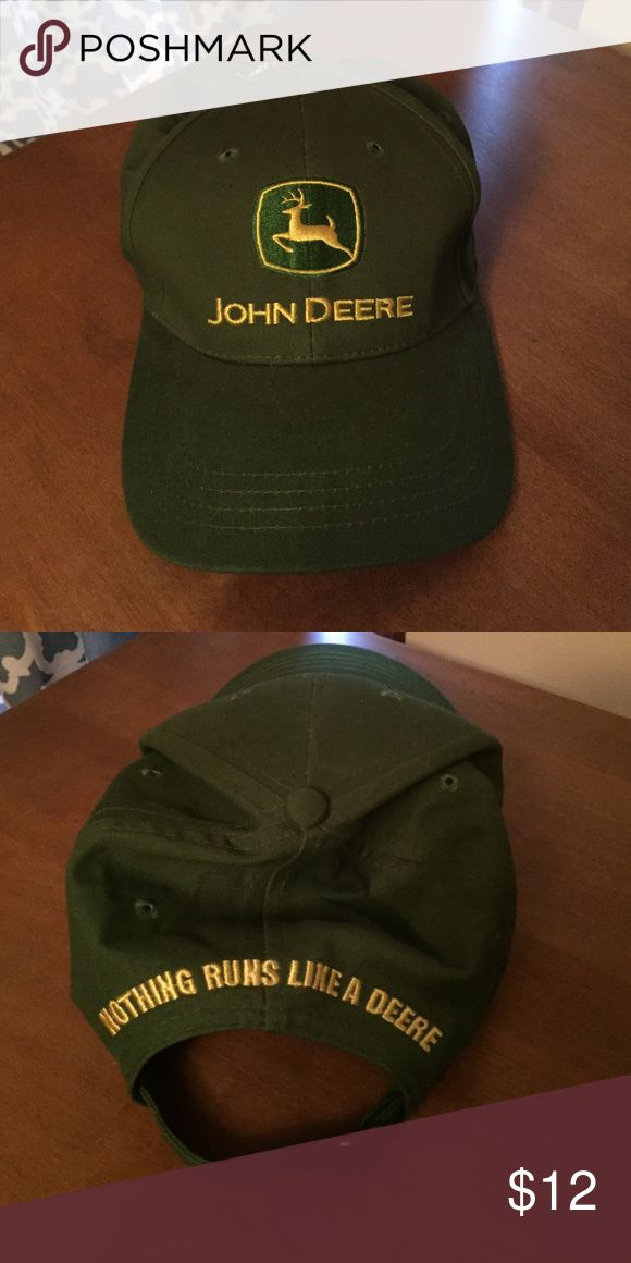 John Deere Baseball Cap Never worn, perfect condition! Adult size cap John Deere Accessories Hats