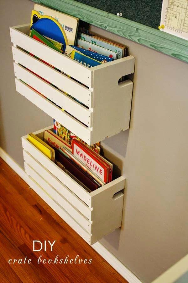 PUERTA AL SUR: Ambientar un rincón de lectura infantil con cajones de fruta
