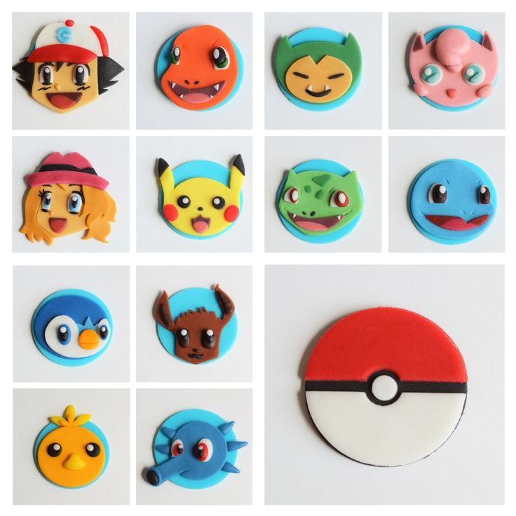 fondant pokemon cupcake toppers
