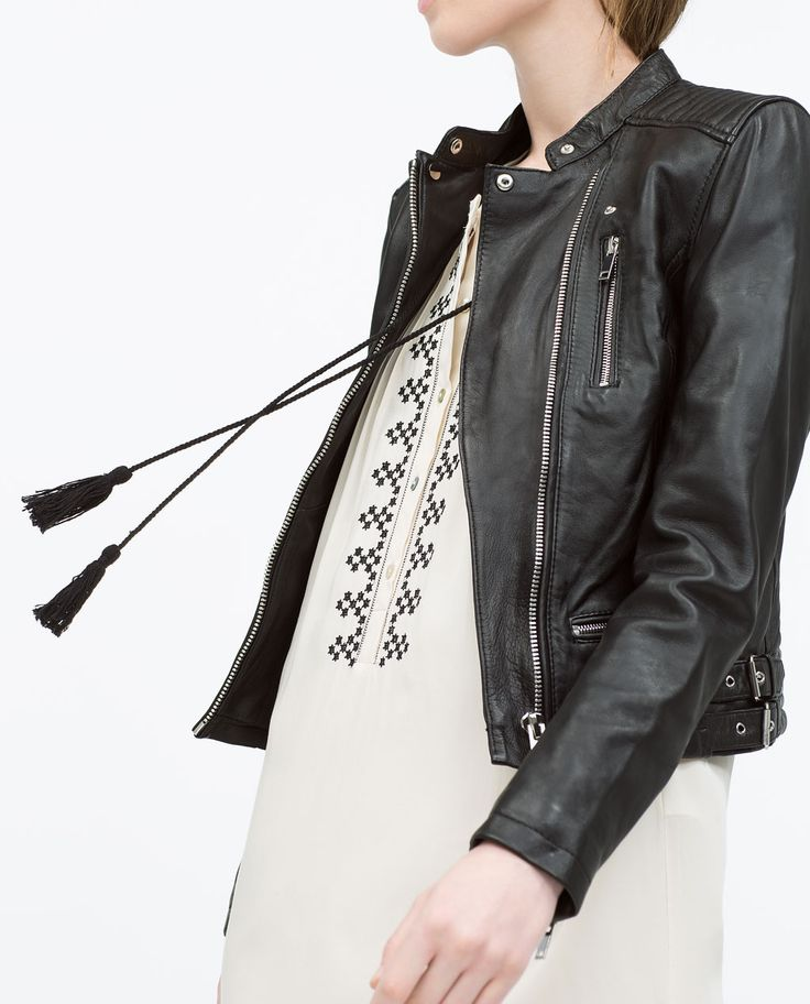 The Zara leather jacket offers everything we know and love of the wardrobe staple: tough leather, silver hardware in all the right places, an asymmetrical zipper.