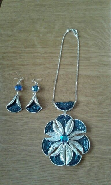 pendant and earrings created with upcycled nespresso cups ...