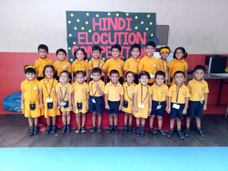 Participants of Jr.Kg and Sr.Kg Hindi Elocution Competition of Ramaben Babubhai Kanakia Pre-primary school Participation is the key to success 'Learners spoke on  various topics like-Swachh Bharat Abhiyan,Mera Bharat Mahan,Guru,Kitabein,Paani,Pedh Bachao Maa,Varsha Rutu, Oonth etc.