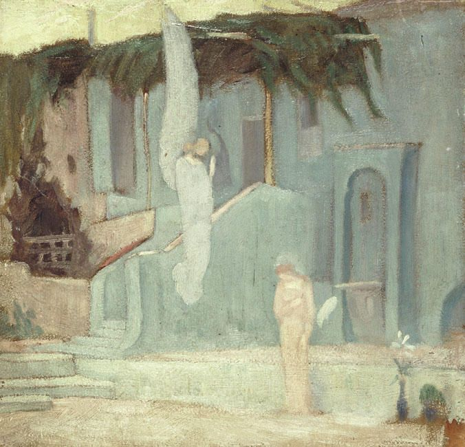 'Annunciation', Oil On Canvas by Konstantinos Parthenis (1878-1967, Egypt)
