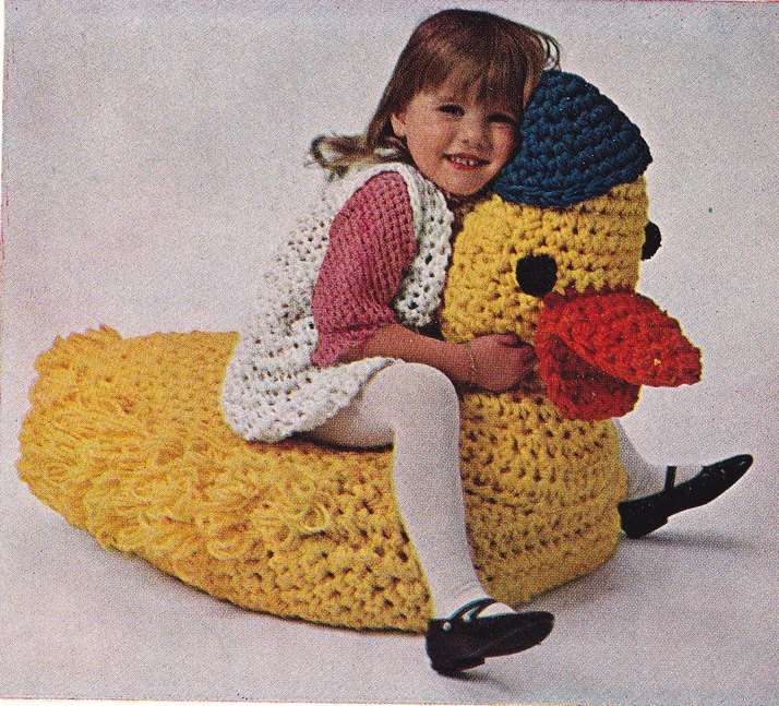 Vintage Crochet Pattern Rubber Duck Beanbag Pillow PDF. $2.50, via Etsy. Lisa, this is what you need!!