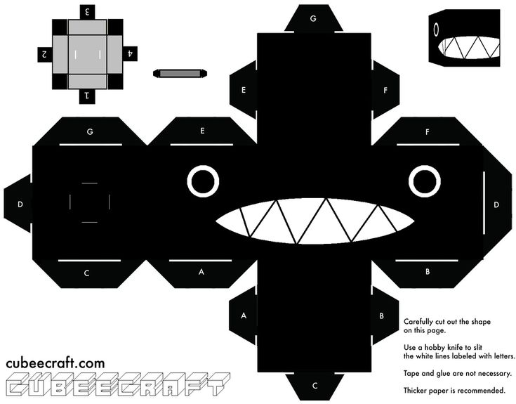 Chain Chomp Cubeecraft by Mariorocks655.deviantart.com on @deviantART