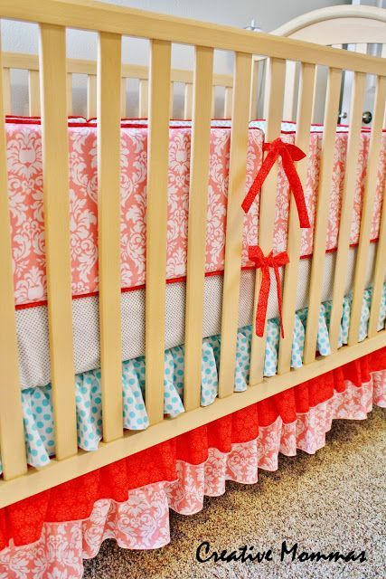 Going to try to make my own!Creative Mommas: Baby Bumper Crib Set Reveal & Tutorial - did it!