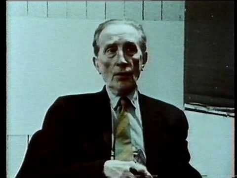 An interview with Marcel Duchamp, made in 1966, two years before he died -on http://video.frieze.com/film/interview-marcel-duchamp/
