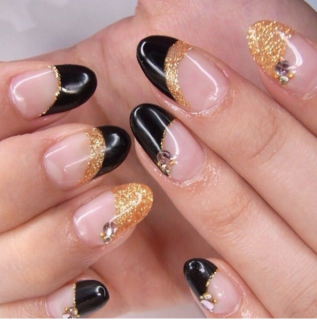 Ezee Buff-Off French Pink, Black and Gold Glitter Gels # ...
