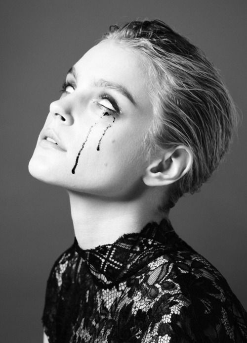 Jessica Stam photographed by Will Davidson for Russh #39Beautiful Makeup, Jessicastam, Black N White, Fashion, Eye Makeup, Jessica Stam, Davidson, Dark Side, Happy Halloween