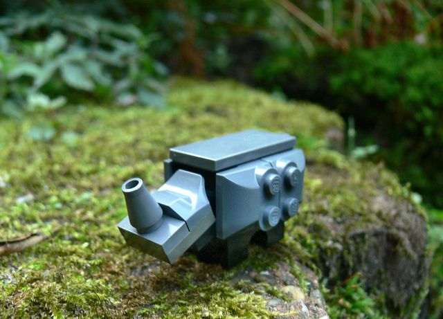 rhinoceros #LEGO #microscale #rhino