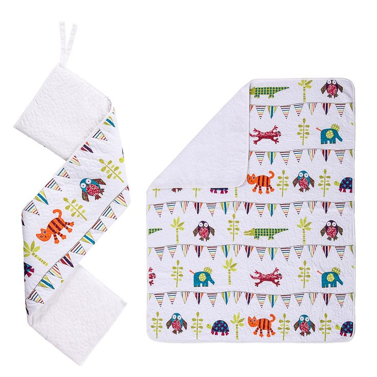 Kiddicare Funky Friends Cot and Cot Bed Coverlet and Bumper Set Kiddicare.com