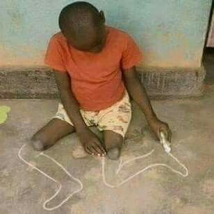 Horribly sad, not because he lost his legs. Because he lives where there are no possibilities for him to know the ability to live a full life without legs.