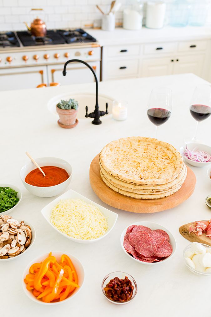 Learn how to throw a build-your-own pizza party