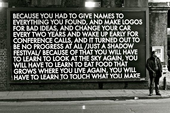 This so often comes up when coaching executives //Street Message by Robert Montgomery