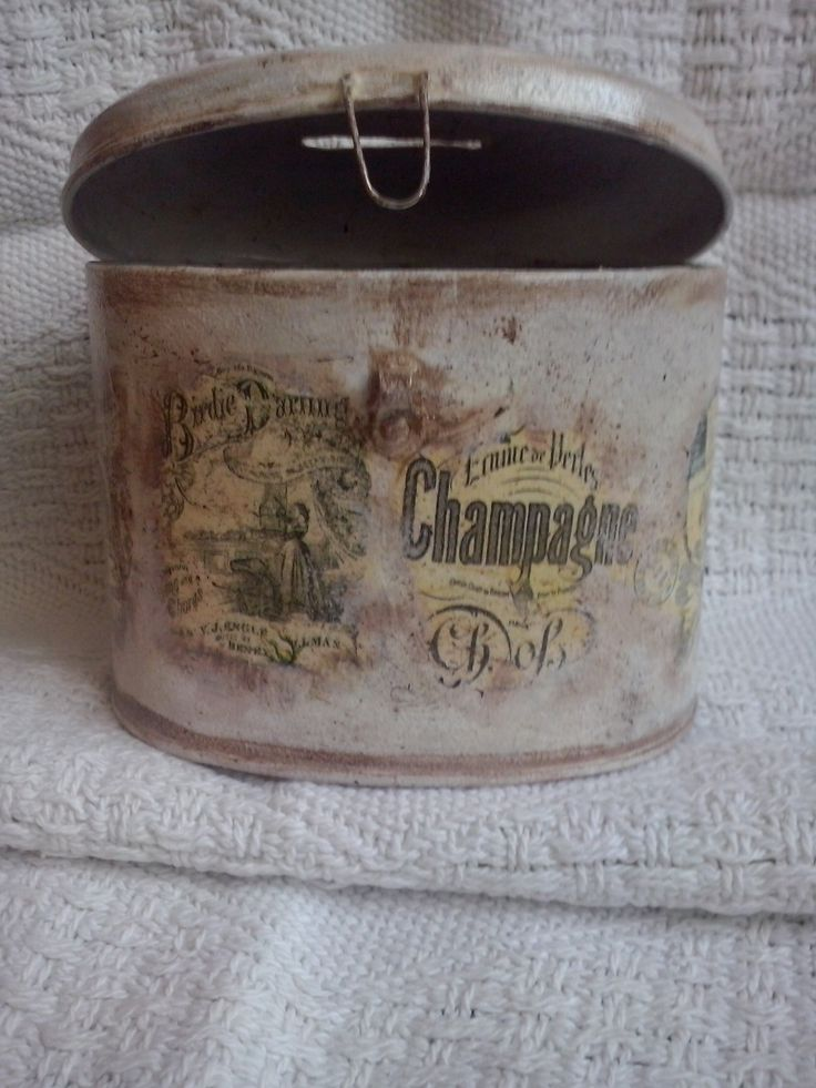 skarbonka decoupage  vintage