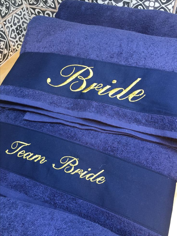 bachelorette cruise! personalized emroidered bride and team bride navy& gold beach towels by cottonprince.gr last sail before the veil!!!