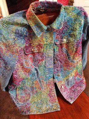 Turn a Thrift-Store Denim Jacket into Art