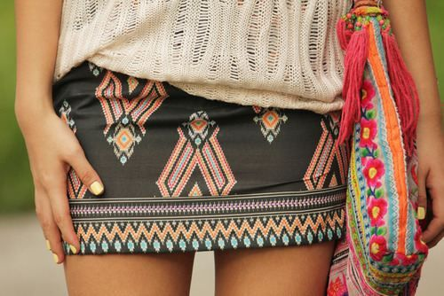 24 Must Have Skirts, (would like it a bit longer) print orange + pink + light blue
