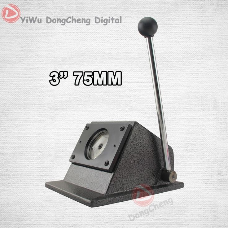 "65.00$  Watch now - http://alisz7.worldwells.pw/go.php?t=32450963754 - ""New Heavy Duty manual Round 75 mm 3"""" paper cutter Stand Die Cutter Button Maker Taille de coupe 86 mm DCQD-75"""