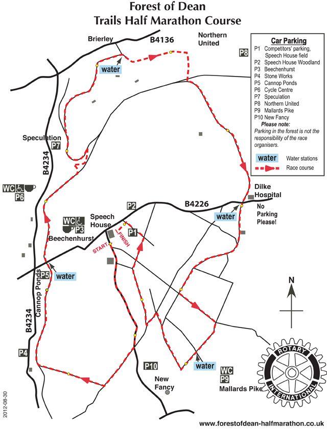 Forest Of Dean Half Marathon Route