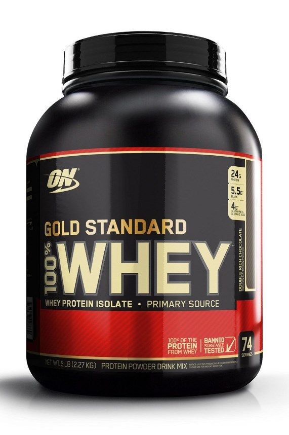 Optimum Nutrition's Gold Standard 100% Whey uses pure Whey Protein Isolates as the primary ingredient. Combined with ultra-filtered whey protein concentrate, each serving provides 24 grams of all-whey protein and 5.5 grams of naturally occurring Branched Chain Amino Acids (BCAAs) which are prized by athletes for their muscle building qualities. More at http://www.fitnessathome.co/Optimum-Nutrition-Standard-Double-Chocolate
