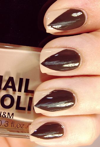 Halloween-nails-Claw nails:Dressing up as a cat, a werewolf, or even Lady Gaga? Here's a great way to fake pointy talons -- without actually cutting your nails. Just be sure to select a nude shade that's close to your skin tone for the most realistic effect. http://www.totalbeauty.com/content/gallery/2012-halloween-nails#6