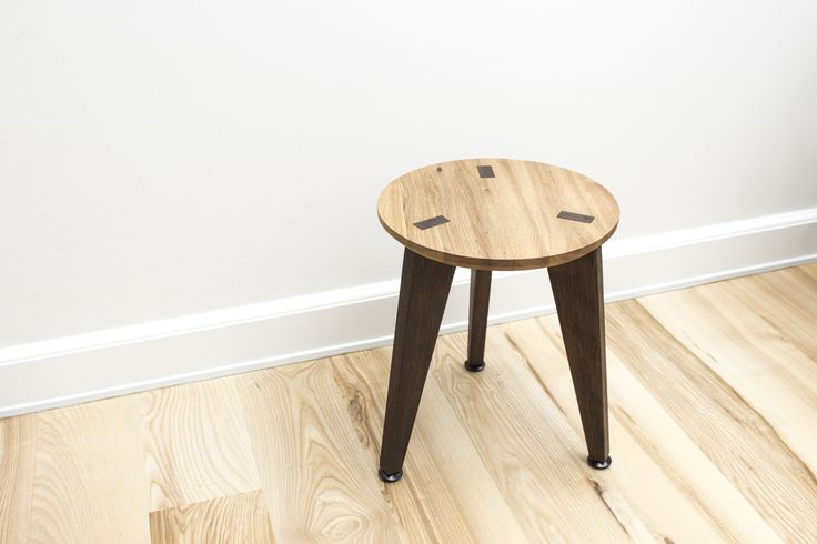 Rank Stool + Living room - Waxed Oak + Fumed Oak