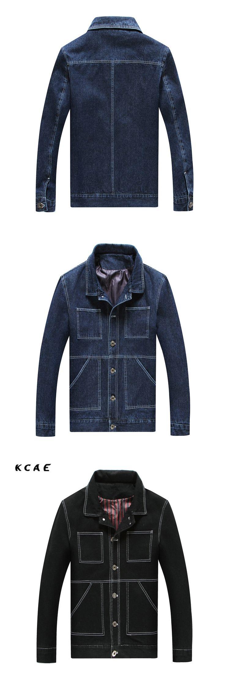 Solid Casual Slim Mens Denim Jacket Plus Size L-8XL  Bomber Jacket Men High Quality Cowboy Men's Jean Jacket Chaqueta Hombre