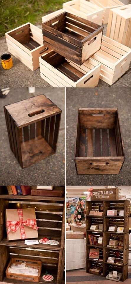 DIY Wooden Crates/Shelves/Storage