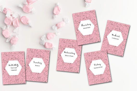 Weekday Flatlay Cards FlatLay Cards Flatlay Card Set Flat