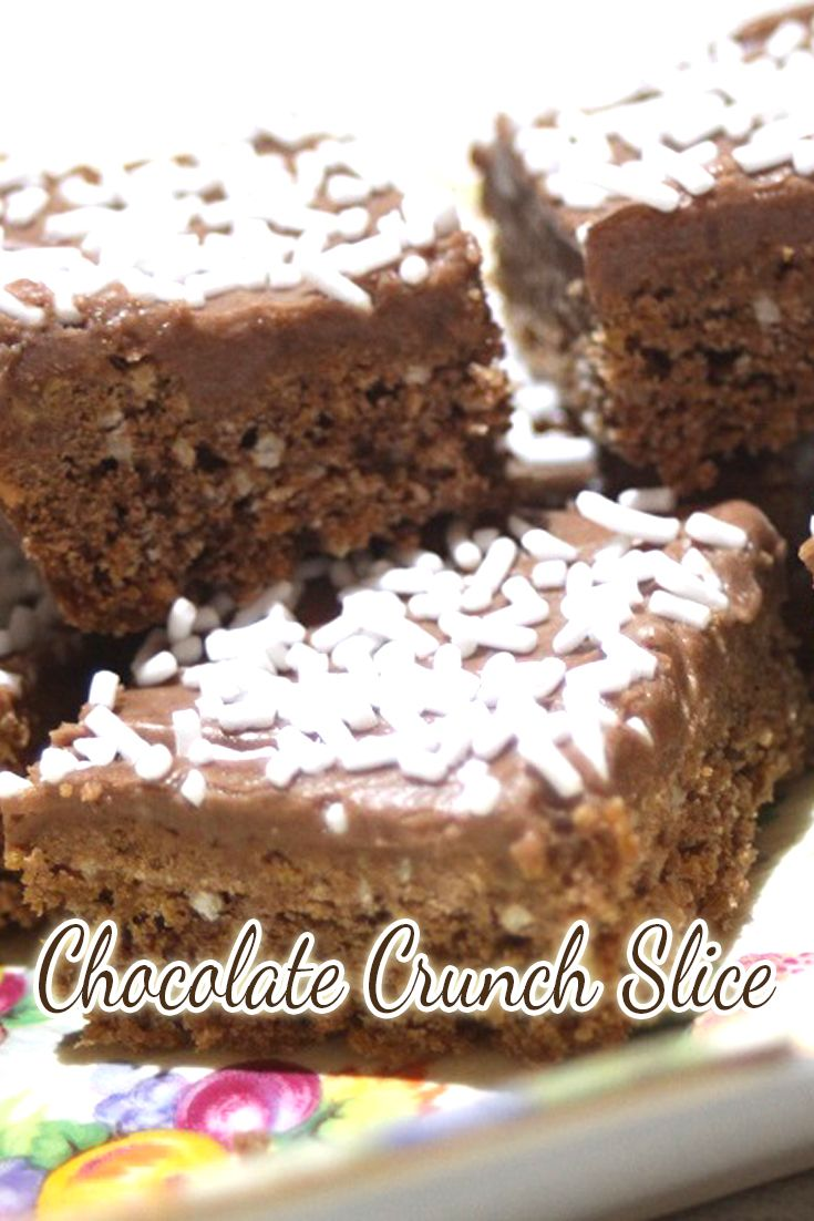 Chocolate Crunch Slice is a total winner in our house. I love that I can freeze it, I love that it is chocolate flavoured and I love that the kids love it in their lunches.