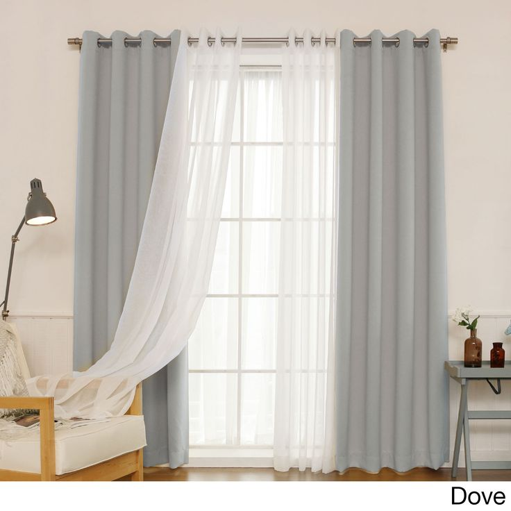 Aurora Home MIX amp Match Curtains Blackout And Muji Sheer