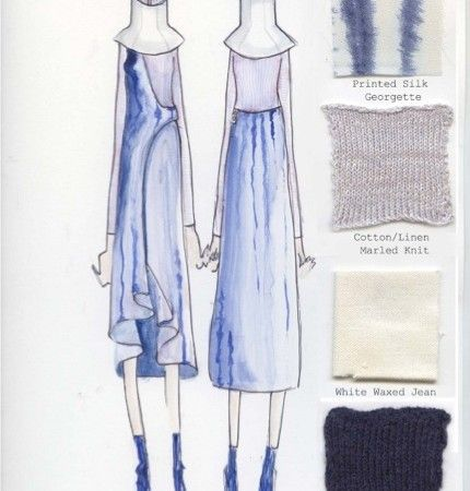 Illustration Sample by Ziyan Gong http://www.universityoffashion.com/lessons/portfolio-tips-fashion-college-admissions/