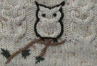 knit sweater owls!