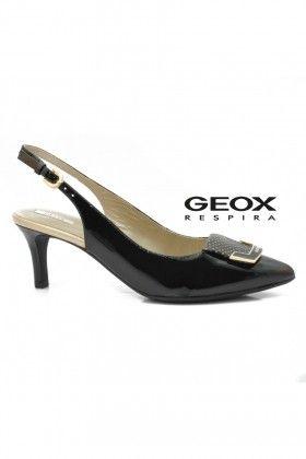 Fekete/Arany Geox Női Magassarkú szandál